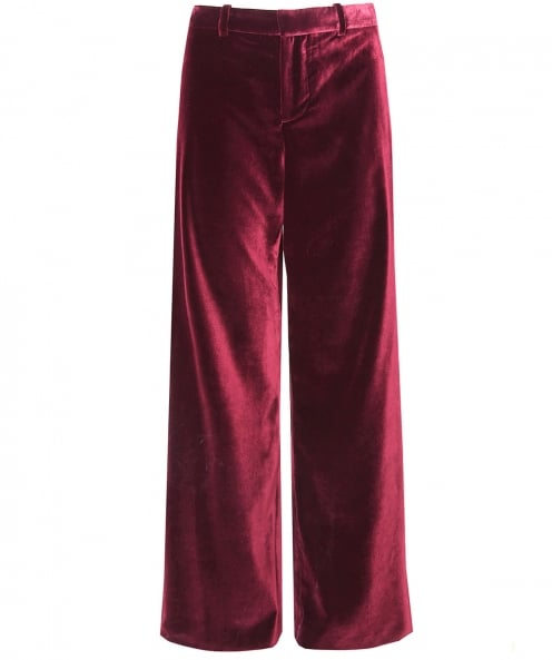 Alice and Olivia Velvet Paulette Tuxedo Trousers