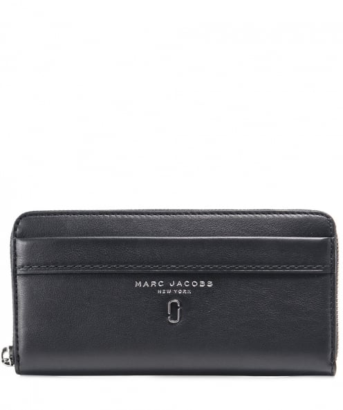 Marc Jacobs Leather Continental Zip-Around Wallet