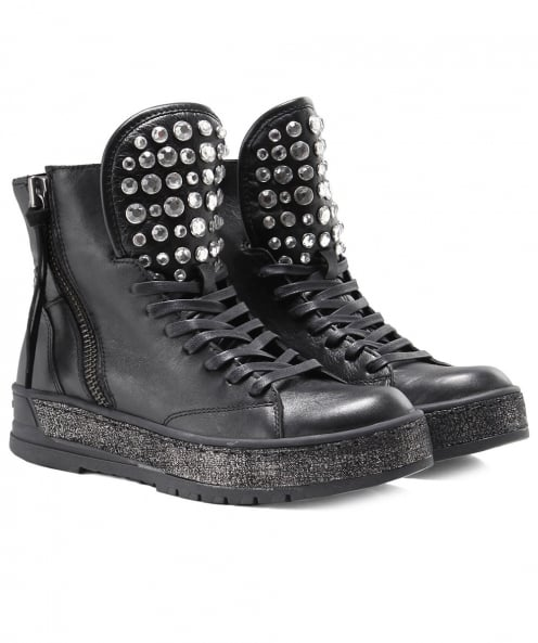 Crime London Hakney Diamante Boots