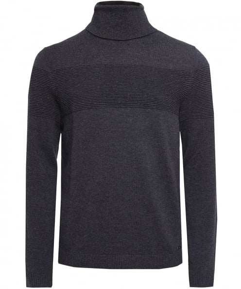 HUGO Virgin Wool Sisealo Turtleneck Jumper