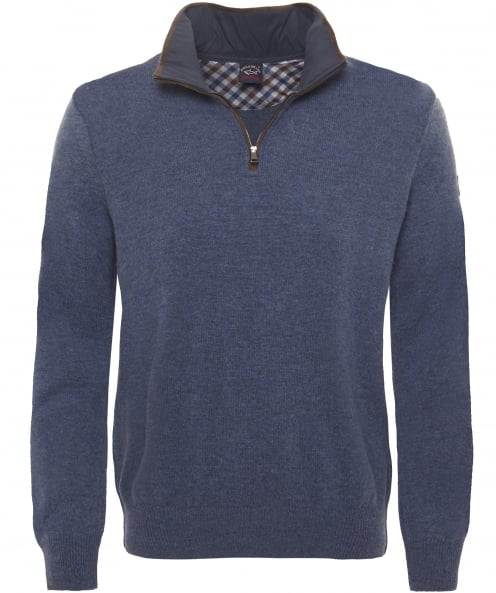 Paul and Shark Virgin Wool Half-Zip Jumper