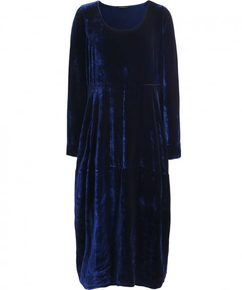 Grizas Velvet Panelled Midi Dress