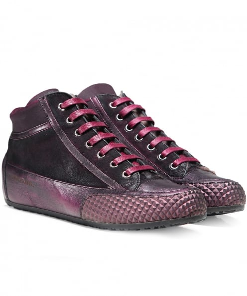 Candice Cooper Metallic Leather Mont Trainers