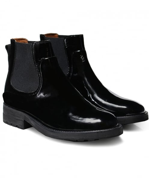 H by Hudson Patent Leather Carter Chelsea Boots