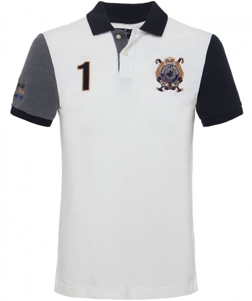Hackett Slim Fit Snow Polo Shirt