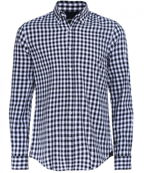 BOSS Slim Fit Gingham Flannel Rod Shirt