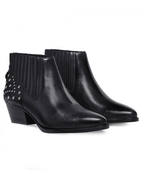 H by Hudson Studded Leather Ernest Boots