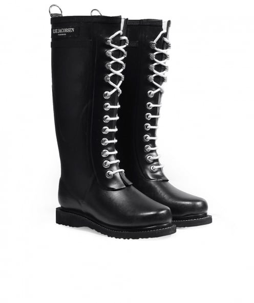 Ilse Jacobsen Long Lace-Up Wellington Boots