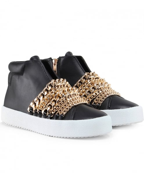 Kendall and Kylie Shoes Leather Duke Astana Chain Trainers
