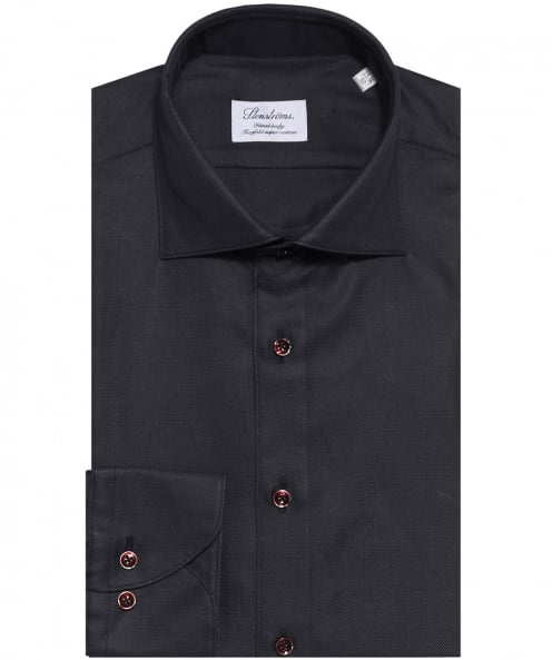 Stenstroms Fitted Textured Woven Shirt