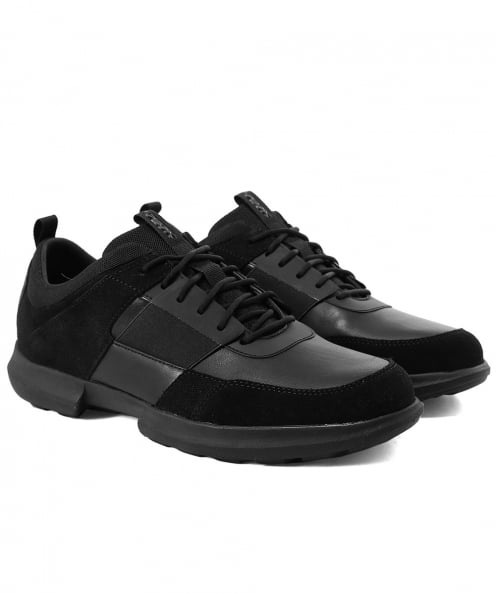 Geox Leather & Suede Traccia Trainers