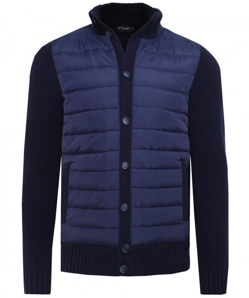 Hackett Quilted & Knitted Button-Through Jacket