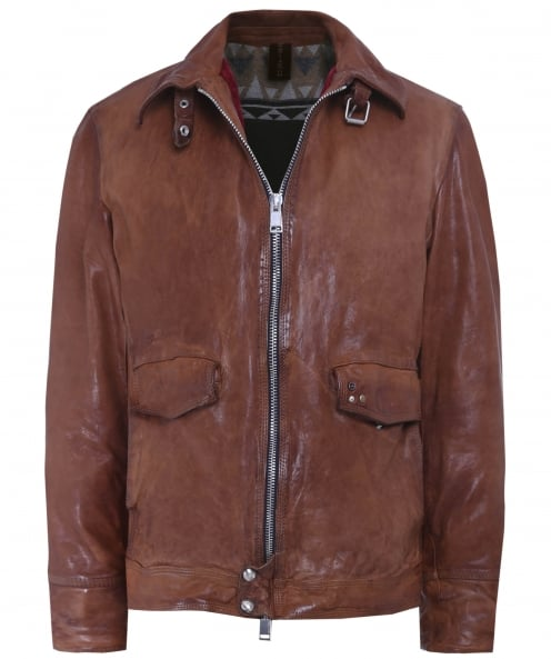 Delan Leather Leather Onda Jacket
