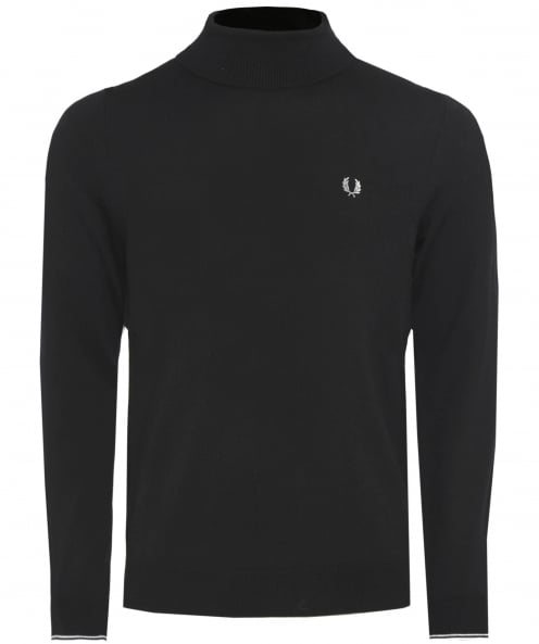 Fred Perry Wool Roll Neck Jumper