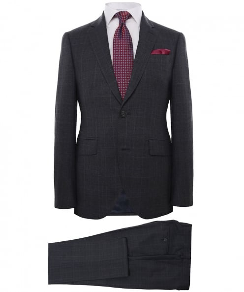 Hackett Wool Contrast Check Suit