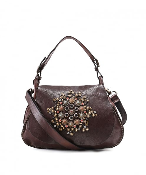 Campomaggi Embellished Leather Shoulder Bag
