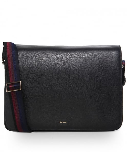 Paul Smith Pebbled Leather New City Messenger Bag
