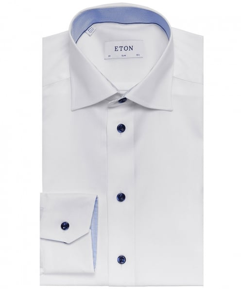 Eton Slim Fit Herringbone Twill Shirt