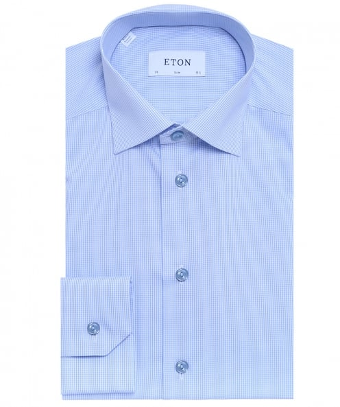 Eton Contemporary Fit Check Poplin Shirt