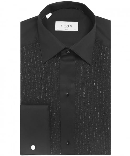Eton Slim Fit Shimmer Pique Dress Shirt