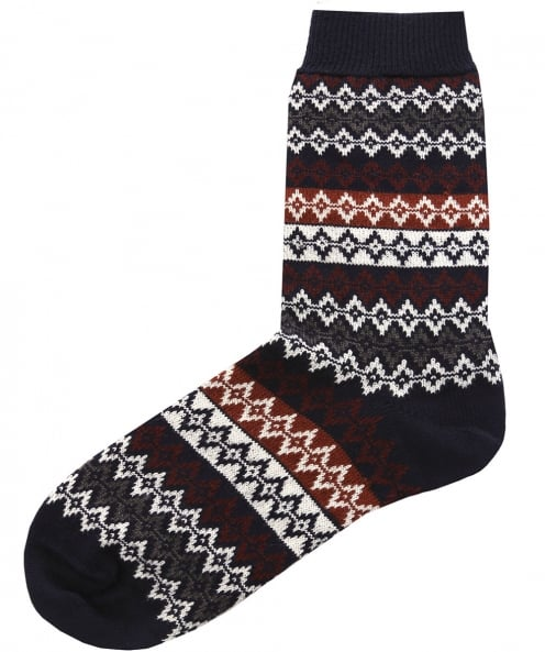 Barbour Merino Wool Duxbury Fair Isle Socks