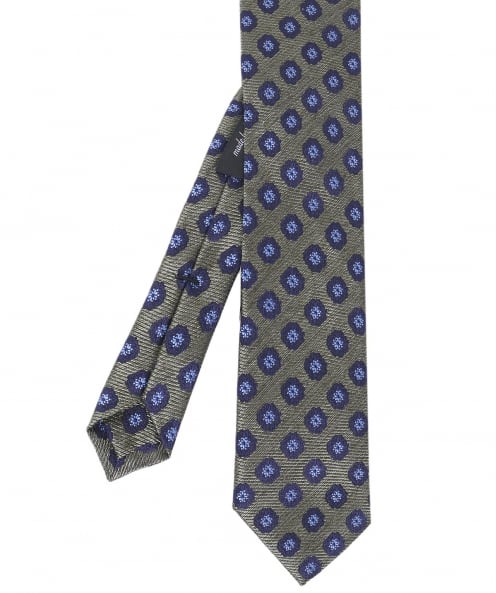Ascot Accessories Floral Jacquard Silk Tie