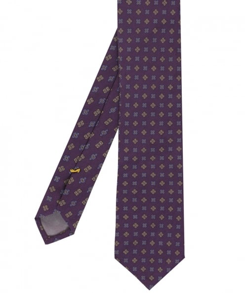 Eton Patterned Silk Tie