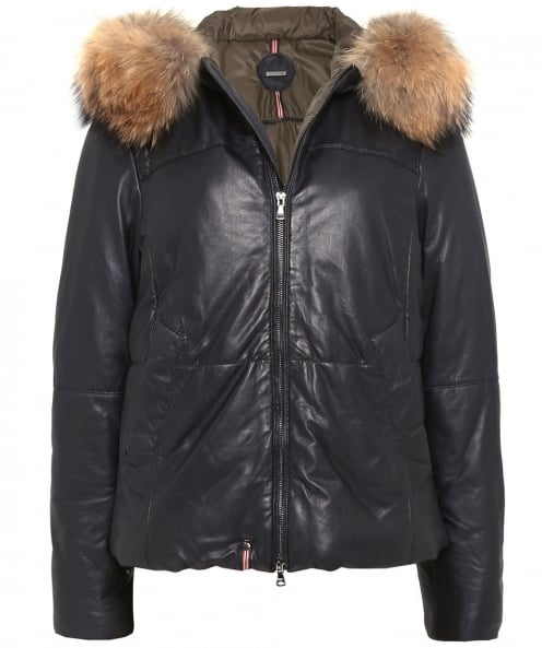 Oakwood Leather Arty Fur Trim Jacket