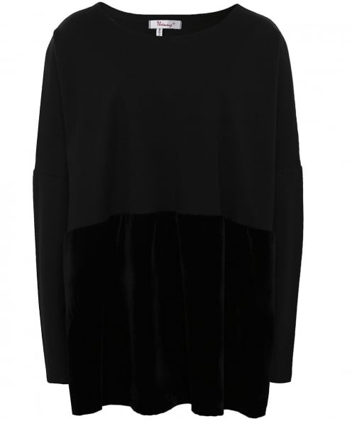 Thanny Oversized Velvet Hem Tunic