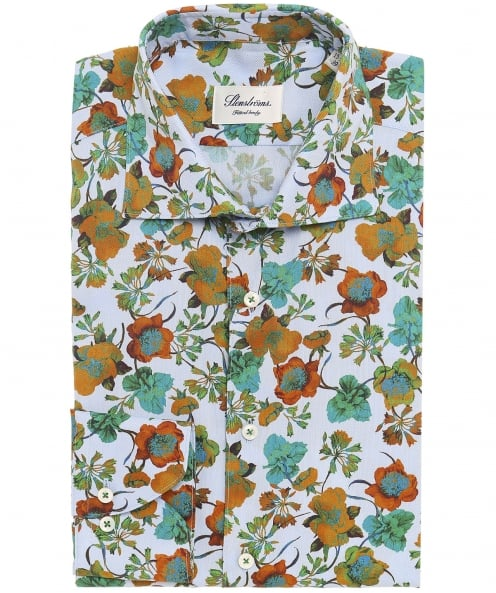 Stenstroms Fitted Floral Shirt