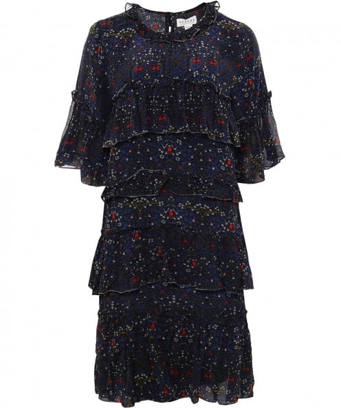 Velvet by Graham and Spencer Floral Lulu Ruffle Dress