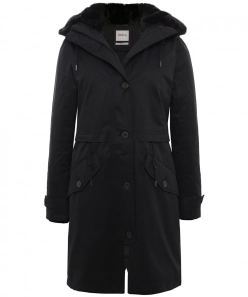 Parka London Faux Fur Trim Lucinda Essential Parka