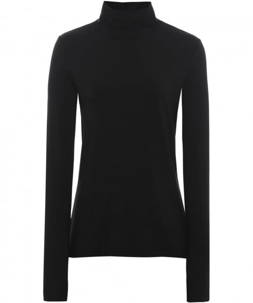 Crea Concept Jersey Basic Roll Neck Top