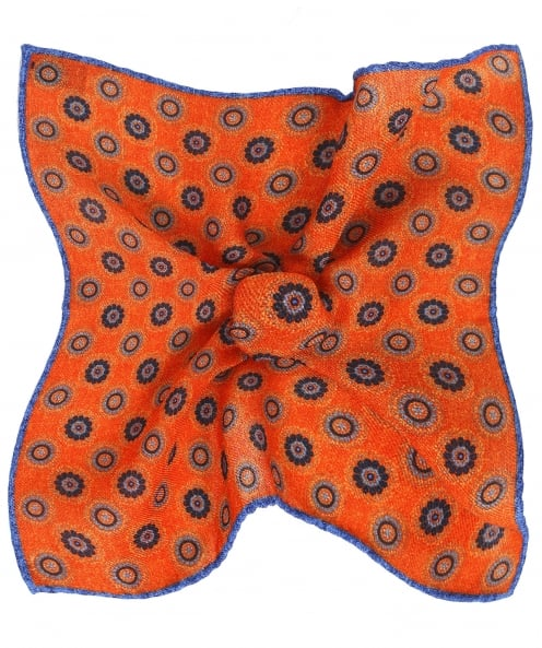Ascot Accessories Patterned Wool Pocket Square