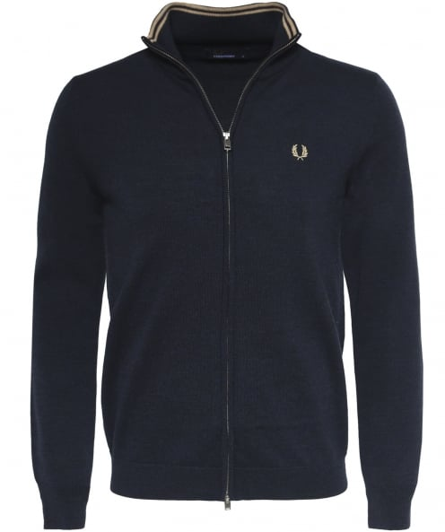 Fred Perry Wool Zip-Through Cardigan