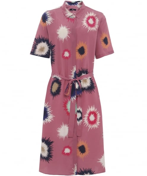 PS by Paul Smith Silk Supanova Print Shirt Dress