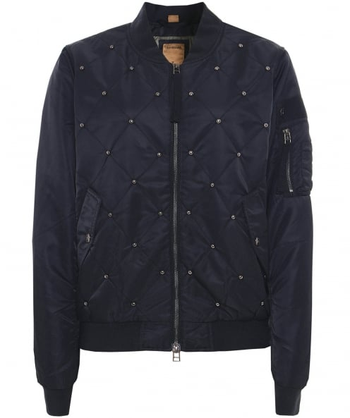 True Religion Stud Quilted Bomber Jacket