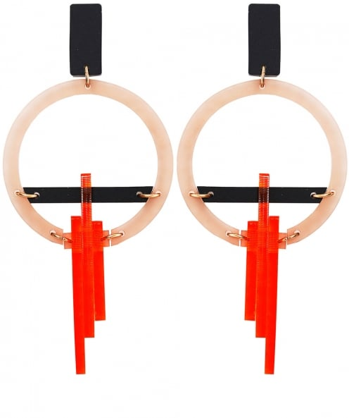 Toolally Hoop Drop Down Earrings
