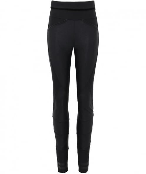 High Leather Effect Lay-Out Leggings