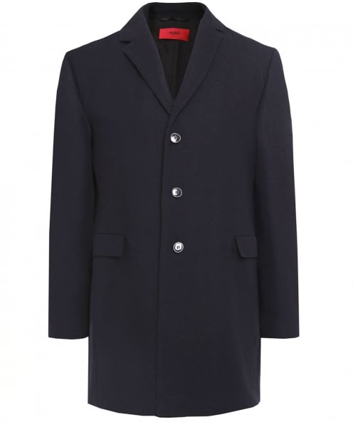 HUGO Wool Blend Migor2 Overcoat