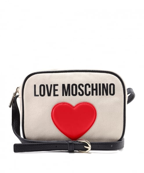 Moschino Love Moschino Canvas Logo Clutch Bag