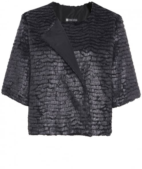 Xenia Design Metallic Feather Effect Bird Jacket
