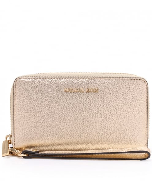 MICHAEL Michael Kors Metallic Leather Mercer Phone Wristlet