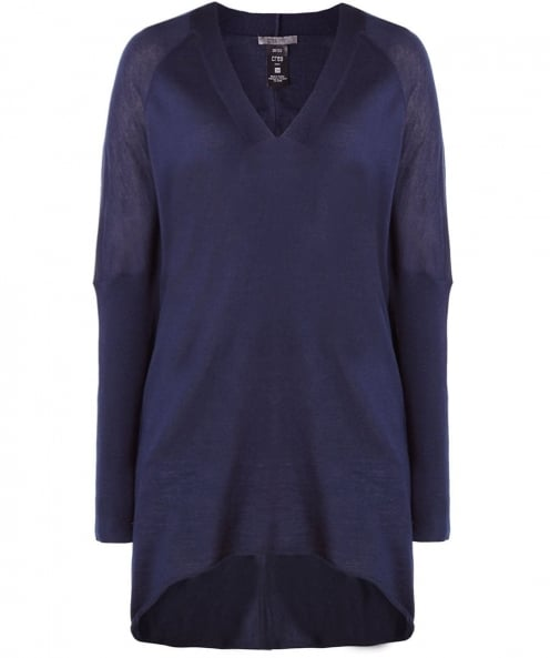 Crea Concept Sheer Wool V-Neck Jumper