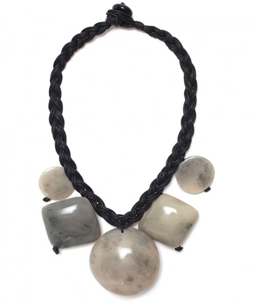 Nouv-Elle Knot Rope Pebble Necklace
