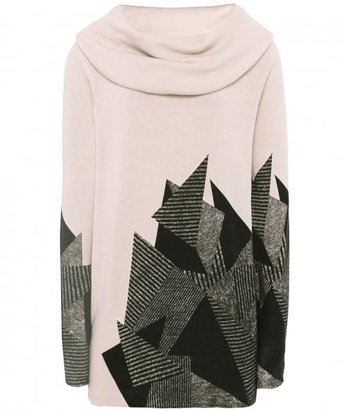 Isabel de Pedro Abstract Print Cowl Neck Jumper