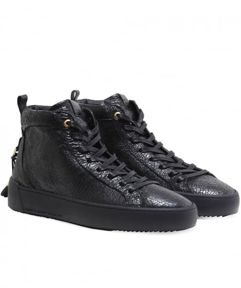 Android Homme Textured Leather Alfa Trainers