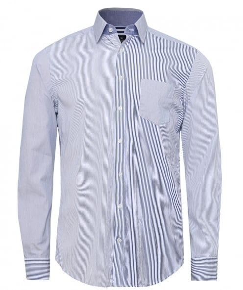 Hackett Multi Panel Striped Shirt