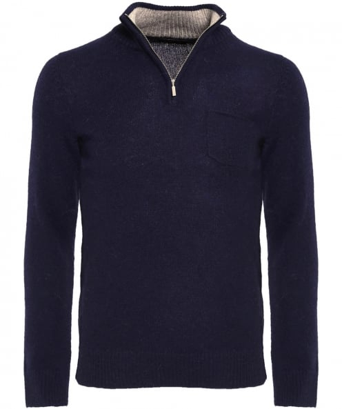 Clark Ross Alpaca Half-Zip Jumper