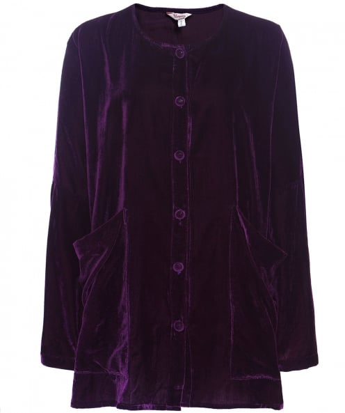 Thanny Oversized Velvet Jacket